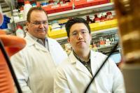 Rice Bioengineer Antonios Mikos and Graduate Student Jason Guo