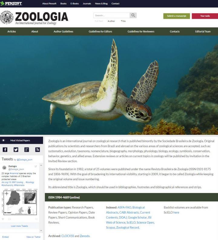 The New <em>Zoologia</em> Website Design