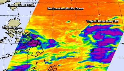 AIRS Image of 11W
