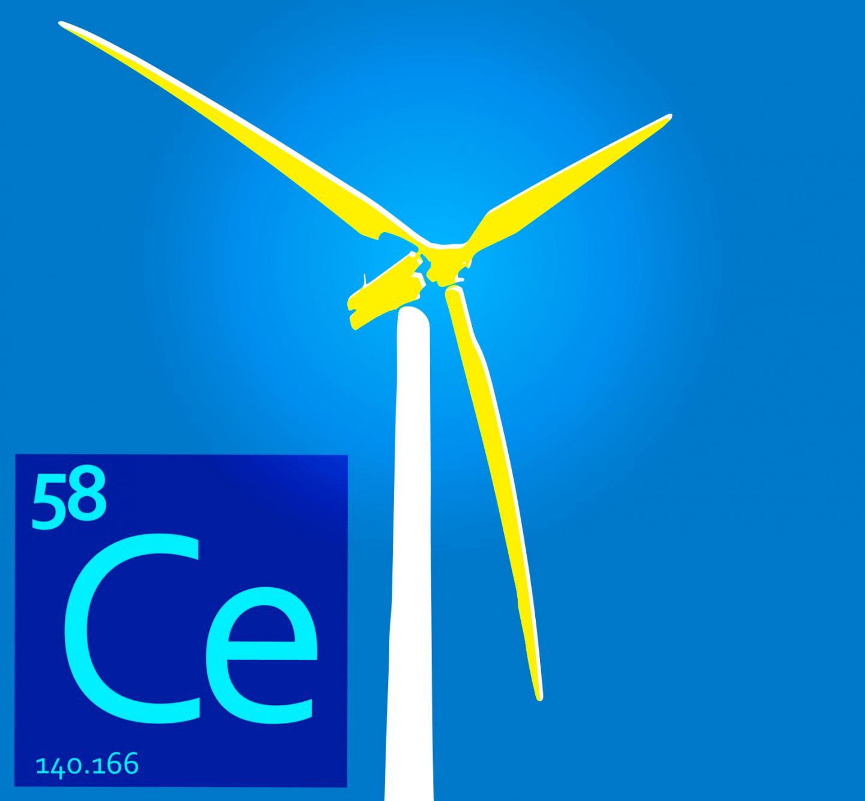 Cerium for Cheaper Magnets in Wind Turbines