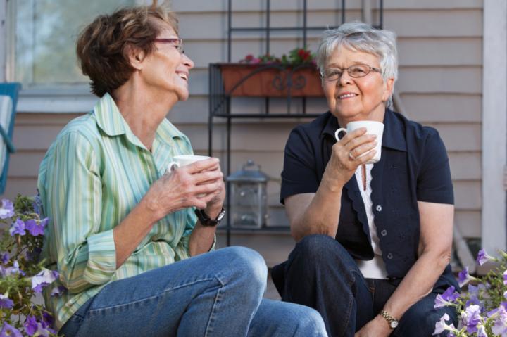 Women having a cup of tea