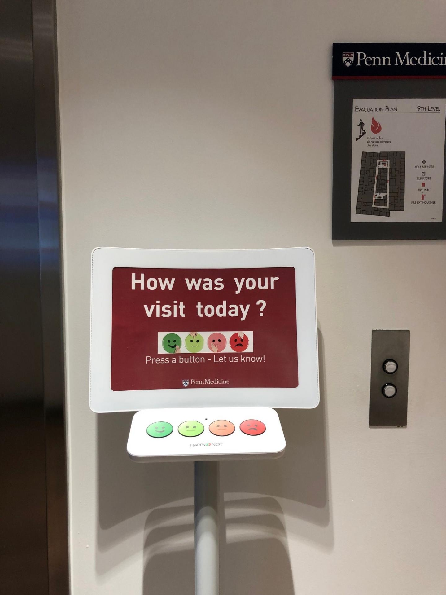 Button Terminal in Emergency Department