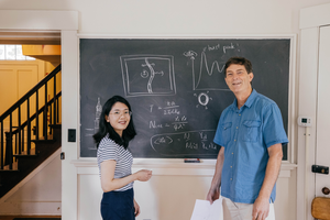 Dartmouth physics research team: Wang and Blencowe