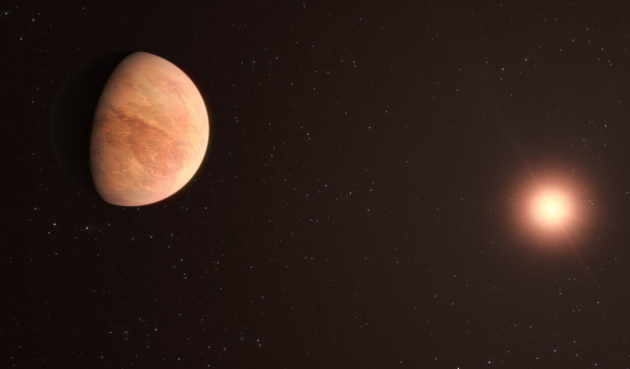 Artist's impression of the L 98-59 planetary system