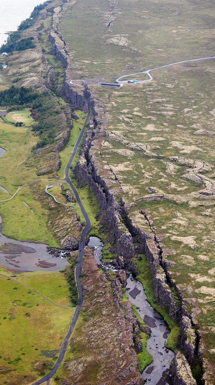 Thingvellir Rift Graben in Iceland