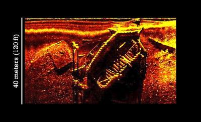 Sonar of Shipwreck