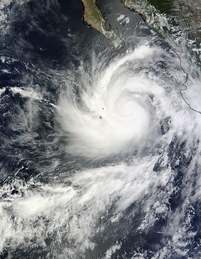 Hurricane Norbert Pinwheels in NASA Satellite Imagery