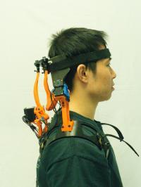 A Study Participant Wearing the Robotic Neck Brace