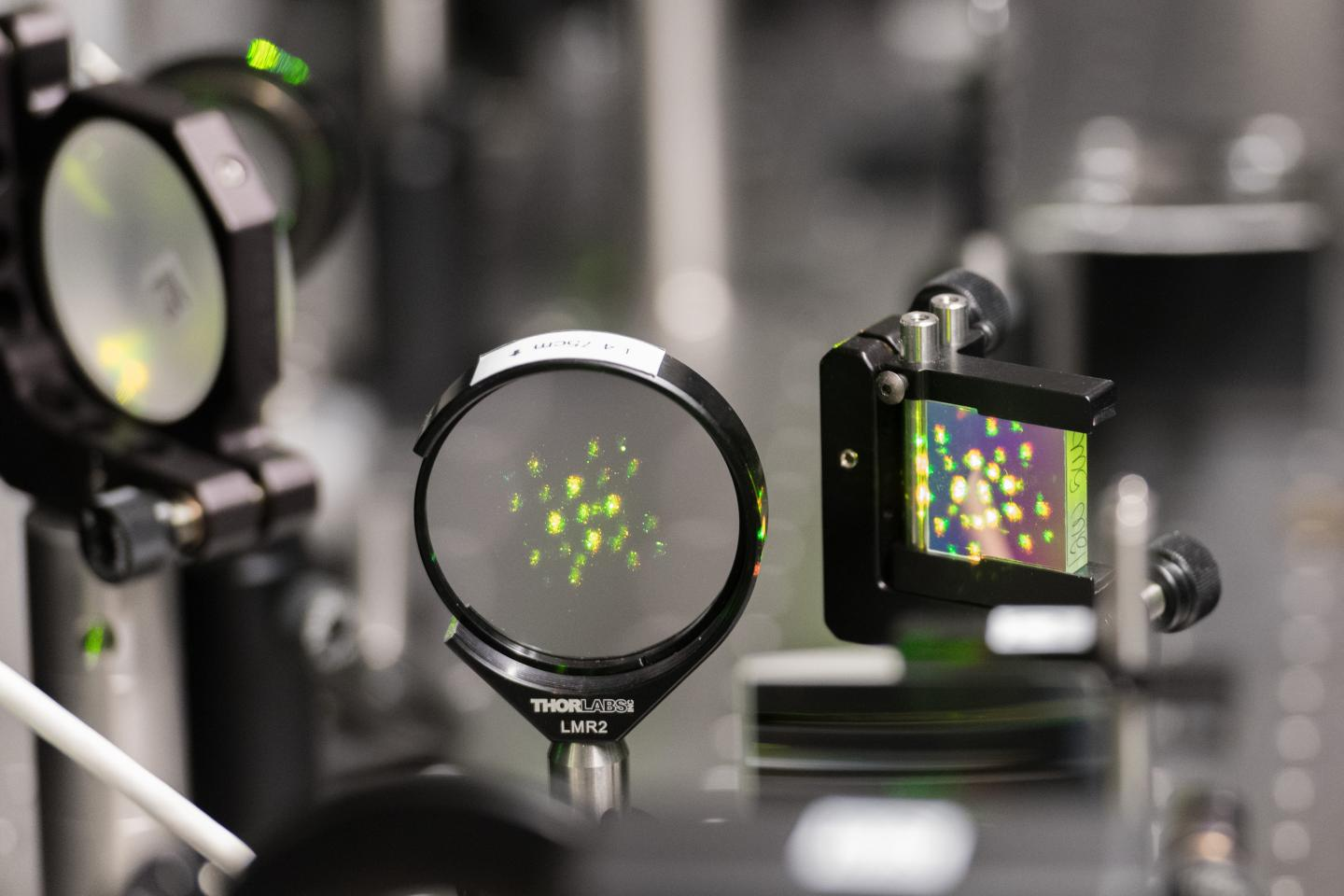 Laser Light in the Visible Range Processed for Materials Measurements