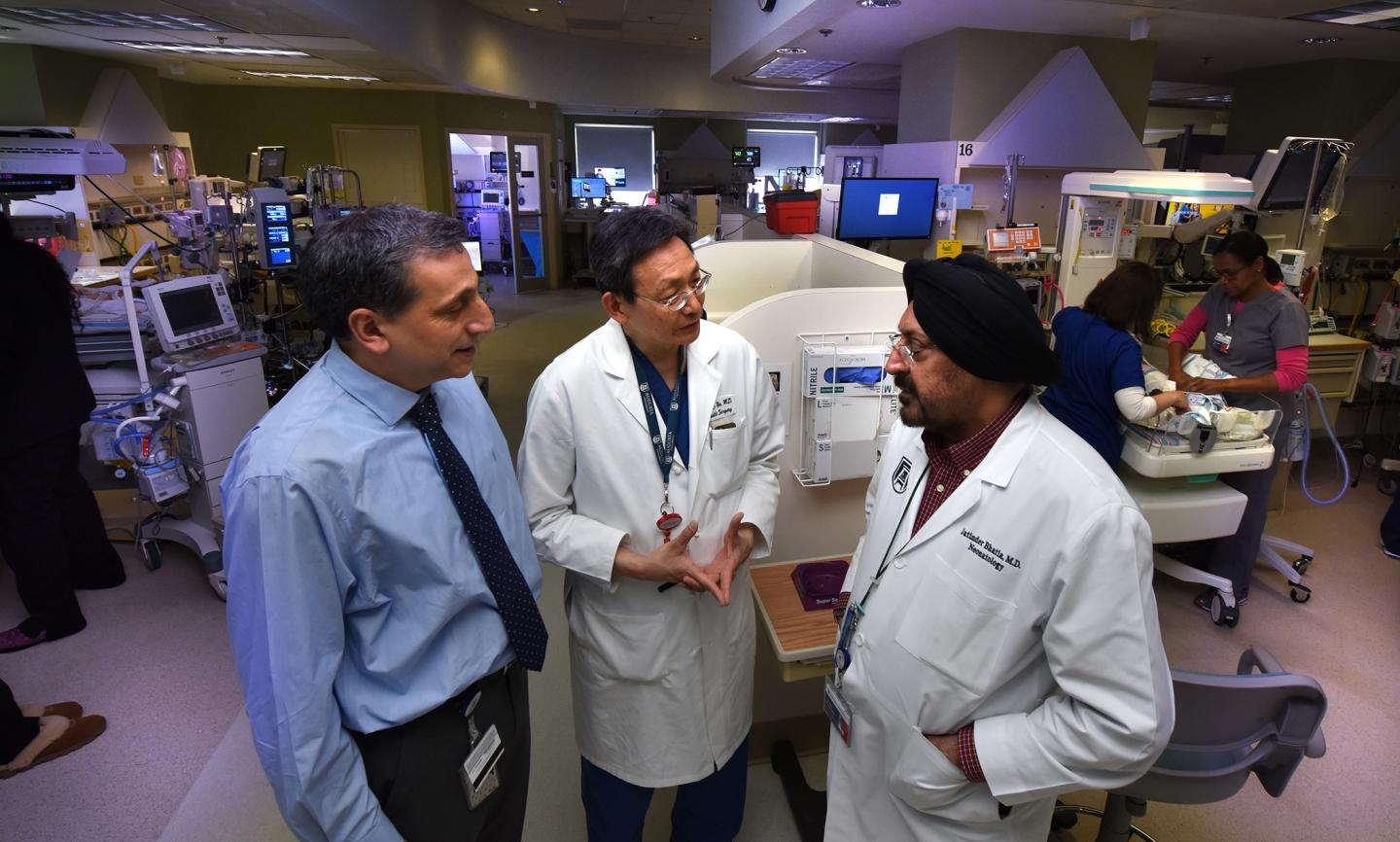 Drs. Babak Baban (from left), Jack Yu and Jatinder Bhatia, Medical College of Georgia at Augusta