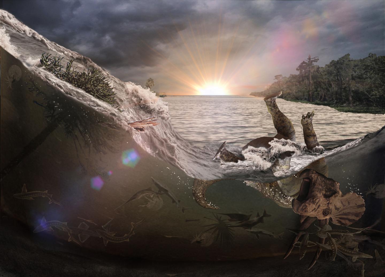 Tsunami-Like Wave Left Killing Field 66 Million Years Ago