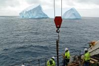 Cores of sediment from ocean floor provide information about Antartica's past