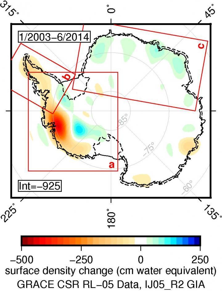 GRACE Antarctic Data, 2003-2014
