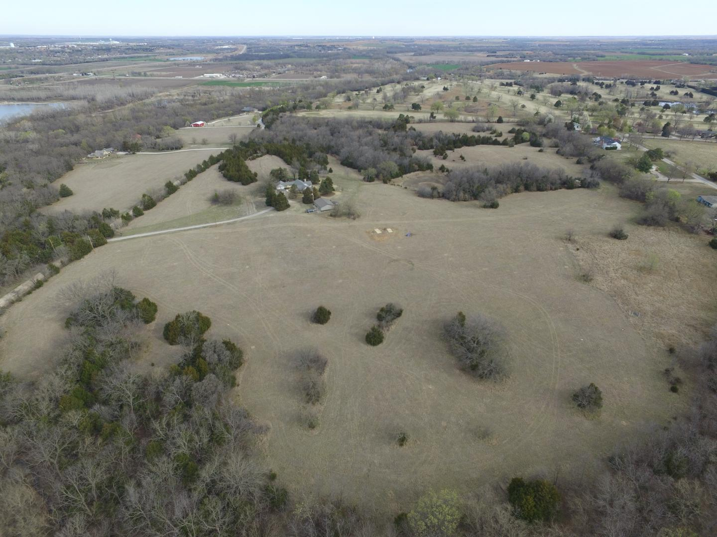 Aerial view of the site.