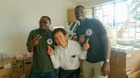 Corresponding author Harukazu Tomoya with colleagues