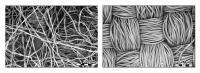 Microscope images of mask fabrics