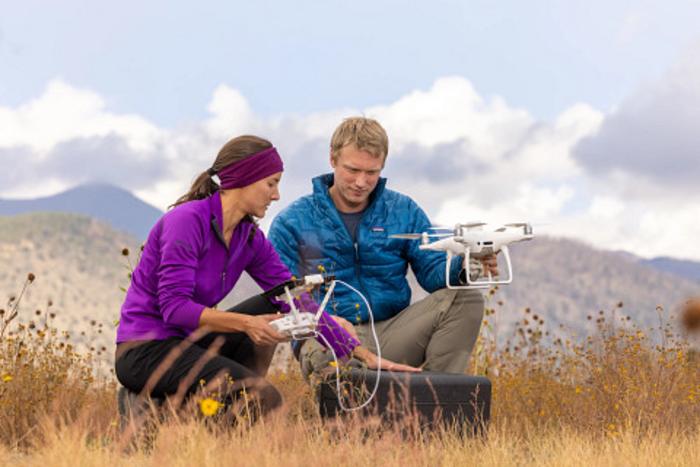 NAU scientists Katie Orndahl and Logan Berner