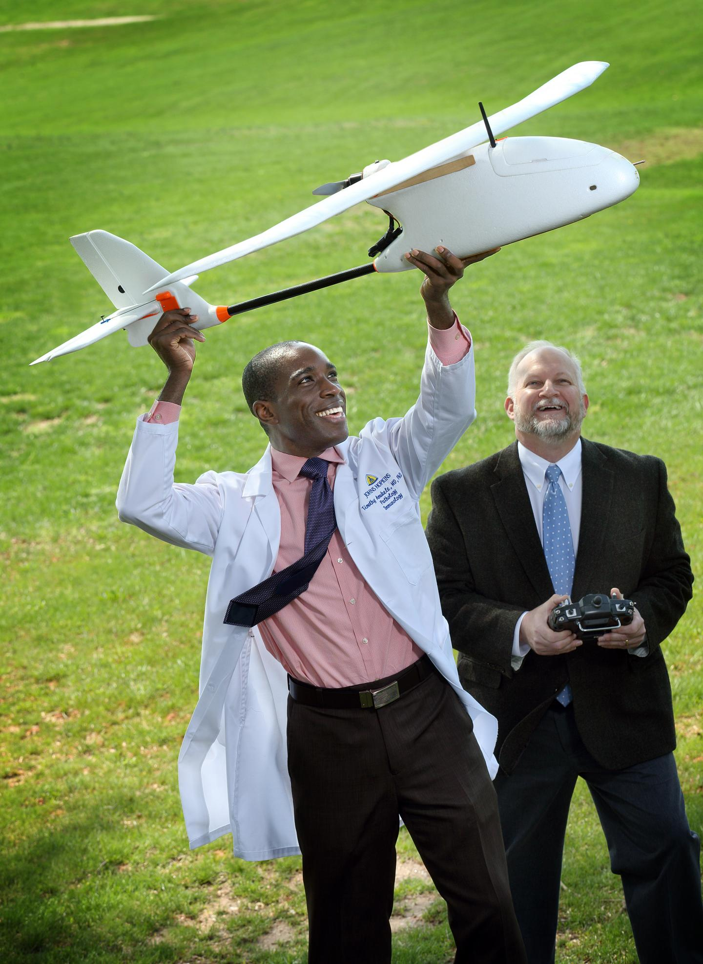 Timothy Amukele and Robert Chalmers, Johns Hopkins Medicine
