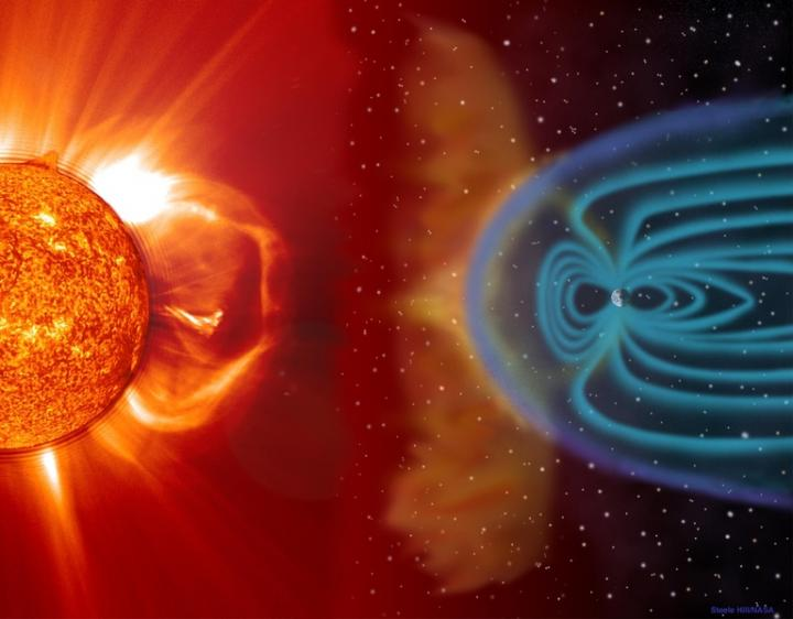 Space Storm Illustration