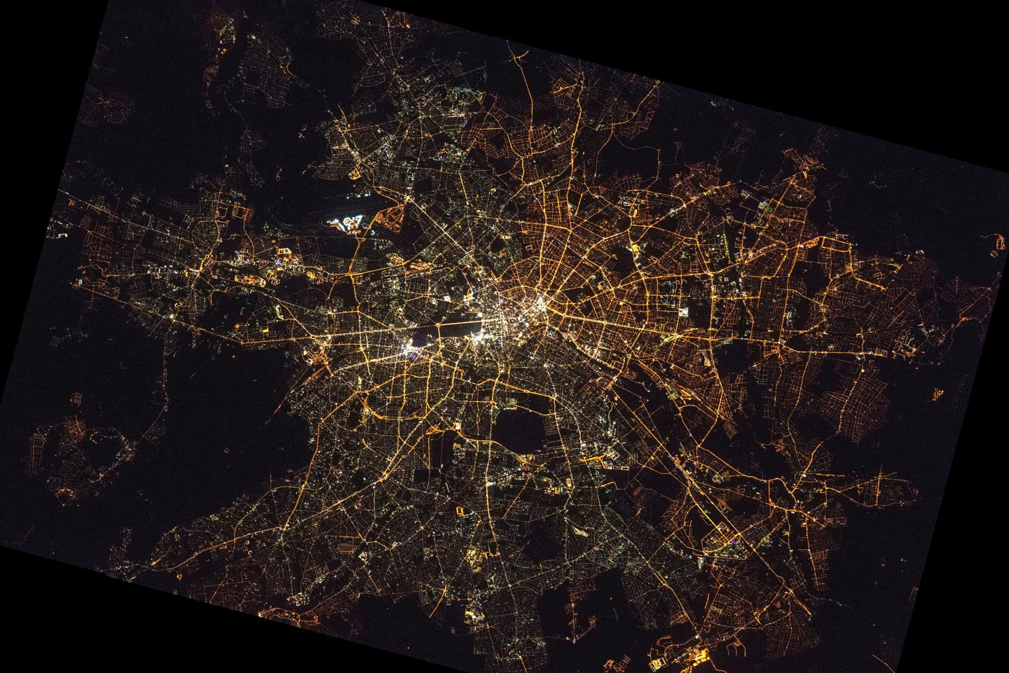 Astrophoto of Berlin at Night