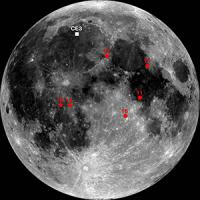 Chang'e-3 and Apollo Mission Landing Sites