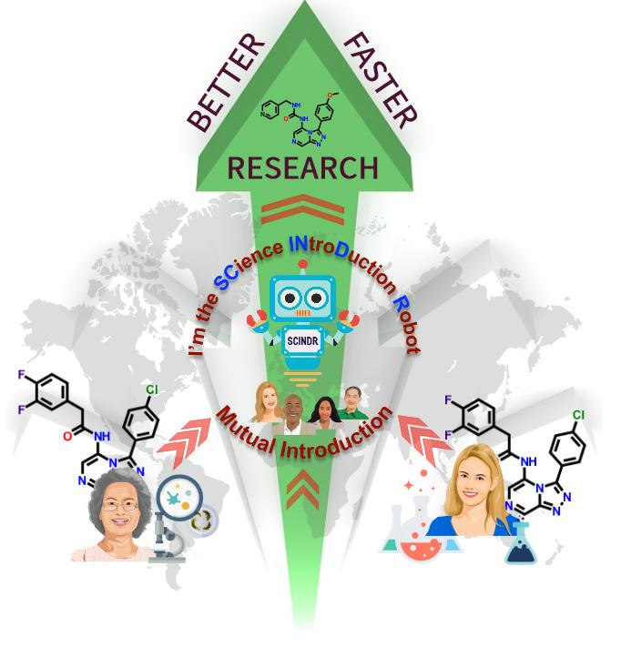 The Science Introduction Robot (SCINDR) in a Graphic