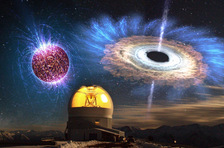 Magnetized Neutron Accreting Black Hole Illustration