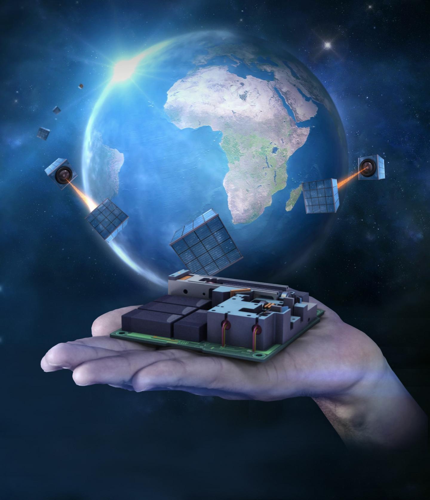Quantum Satellite Device