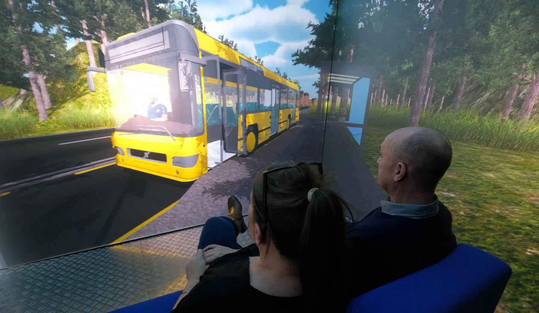 Blue Room Demonstrating Bus Scenario