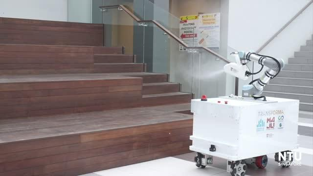 NTUsg researchers build disinfectant robot to aid cleaners in the fight against #COVID19