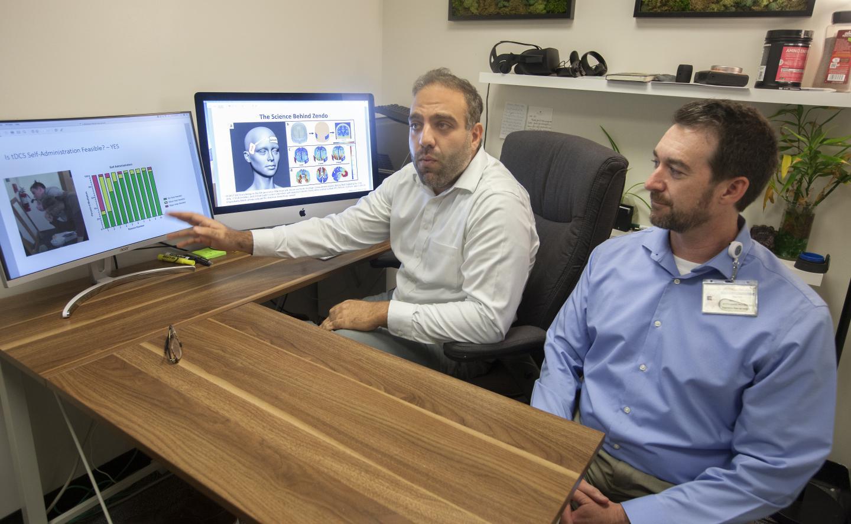 Dr. Bashar Badran and Dr. Baron Short of the Medical University of South Carolina