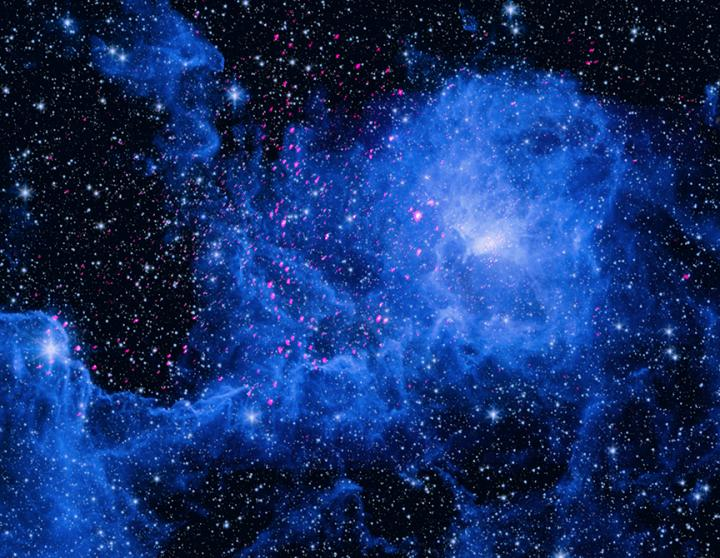 X-ray and Infrared Composite of the Lagoon Nebula