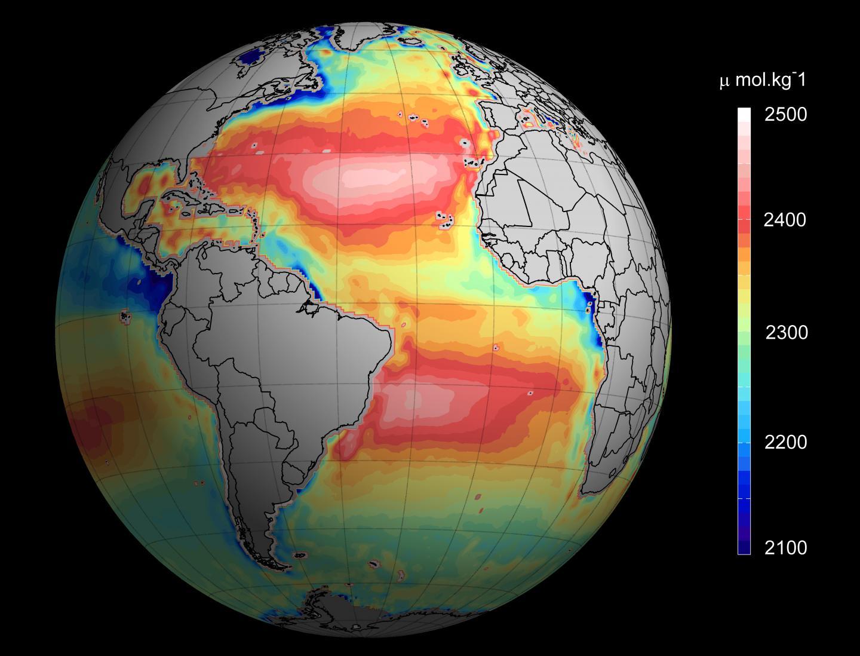 Total Ocean Alkalinity from Space