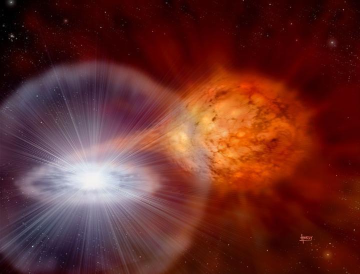 Explosion of a recurrent nova