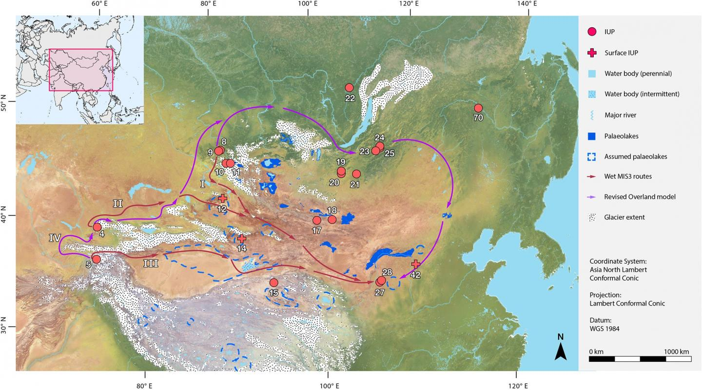 <em>Homo sapiens</em> May Have Had Several Routes of Dispersal across Asia in the Late Pleistocene