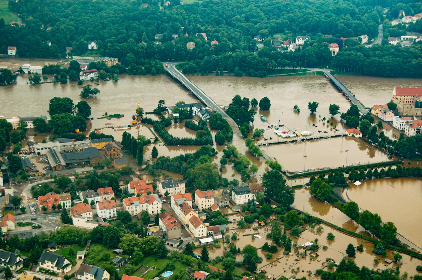 Inundated City in Germany