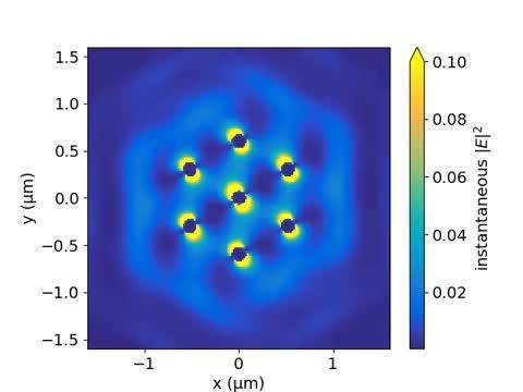 Seven-particle optical matter gear