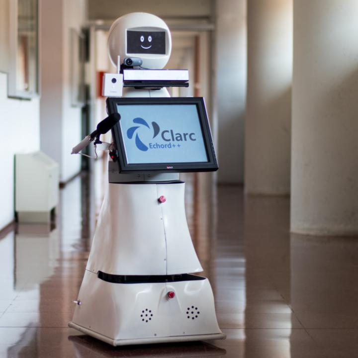 Image of the telepresence robot designed by researchers of the UMA