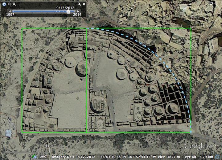 Aerial Shot of Pueblo Bonito