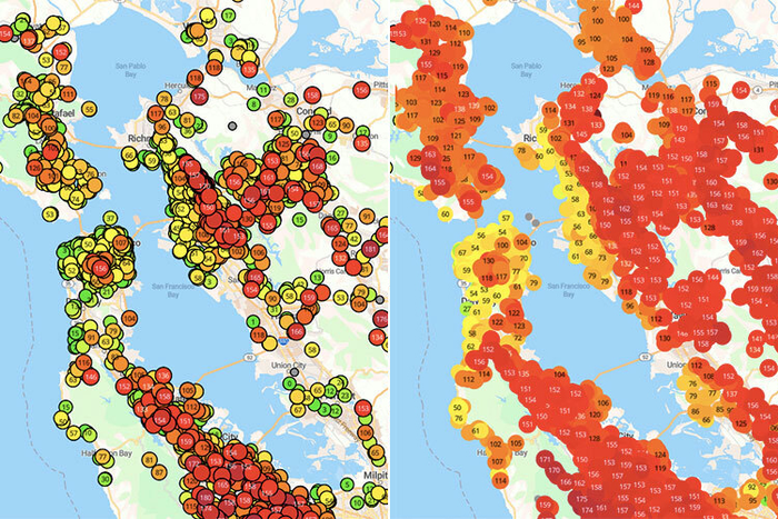 Indoor and outdoor air quality in San Francisco