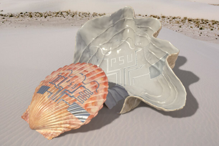 Shell printed circuit