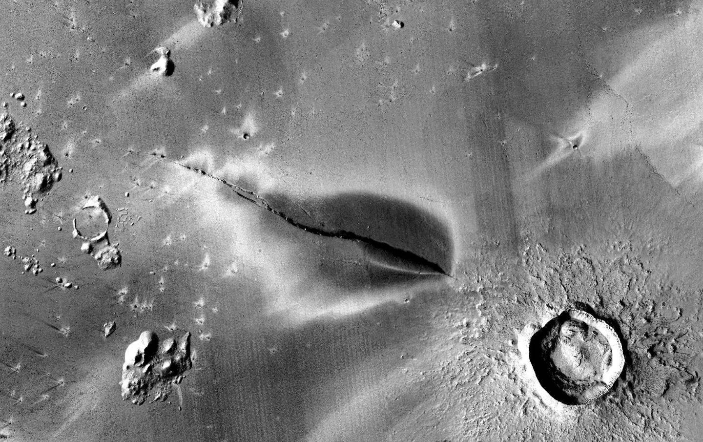 A recent volcanic deposit on Mars