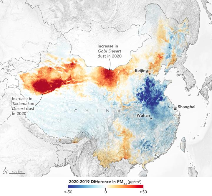 Changes in PM Concentrations Over China