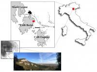 The Riparo del Broion, on the Berici Hills in Veneto, Italy