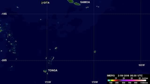 IMERG Video of Rainfall from Gita