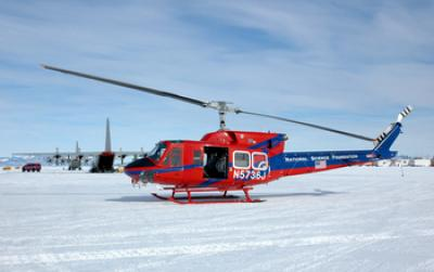 A US Antarctic Program Helicopter