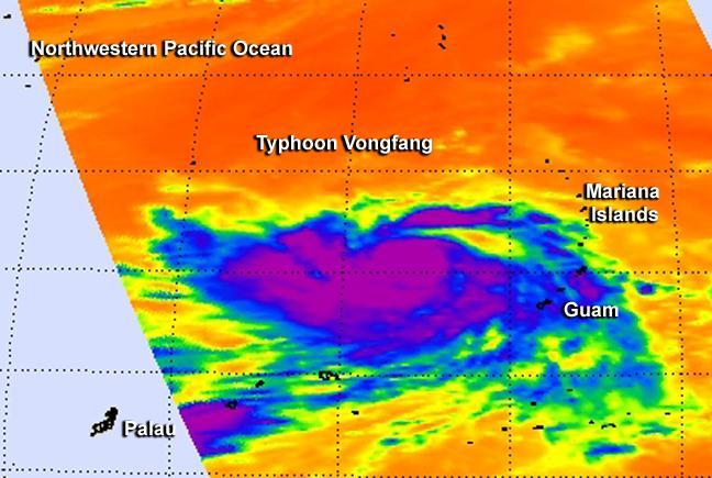 Typhoon Vongfong Departs the Mariana Islands