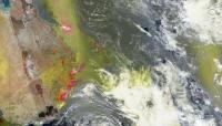 Suomi NPP OMPS instrument info on the fires in Australia