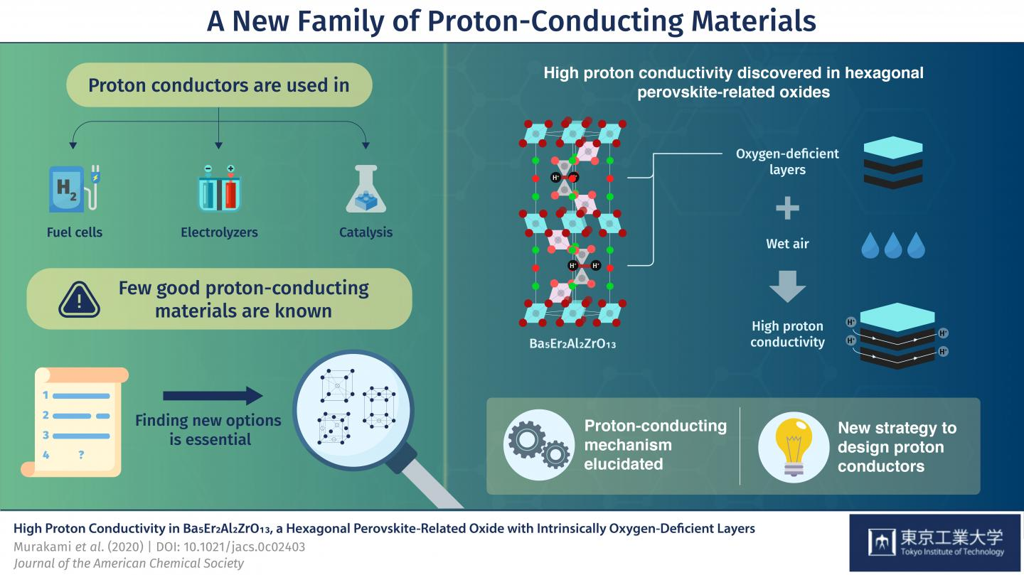 Figure 1. Schematic Illustration of a New Family of Proton-Conducting Materials