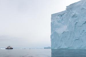 RV Polarstern near an iceberg in Amundsen Sea